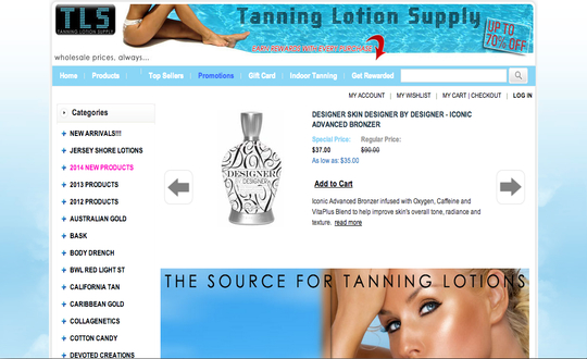 Tanning Lotion Supply