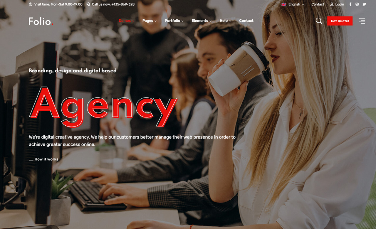 Folio Creative Agency Portfolio Theme