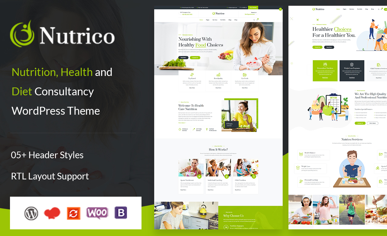 Nutrico Nutrition Health Services WordPress Theme