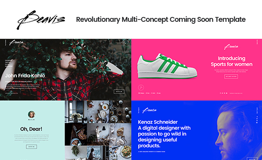 Beavis Multi Concept HTML5 Coming Soon Template