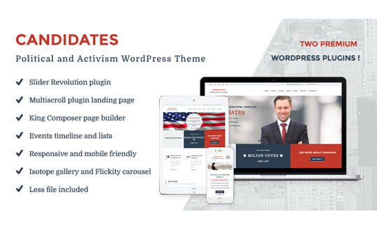 Candidates Political and Activism WordPress Theme
