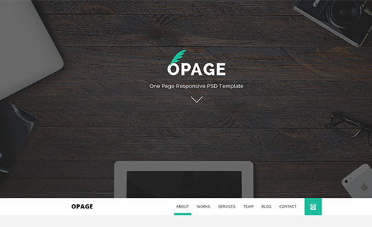 OPage One Page Responsive Template