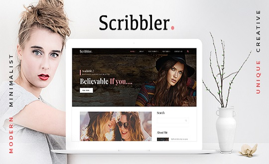 Scribbler Lifestyle and  Fashion Blog HTML