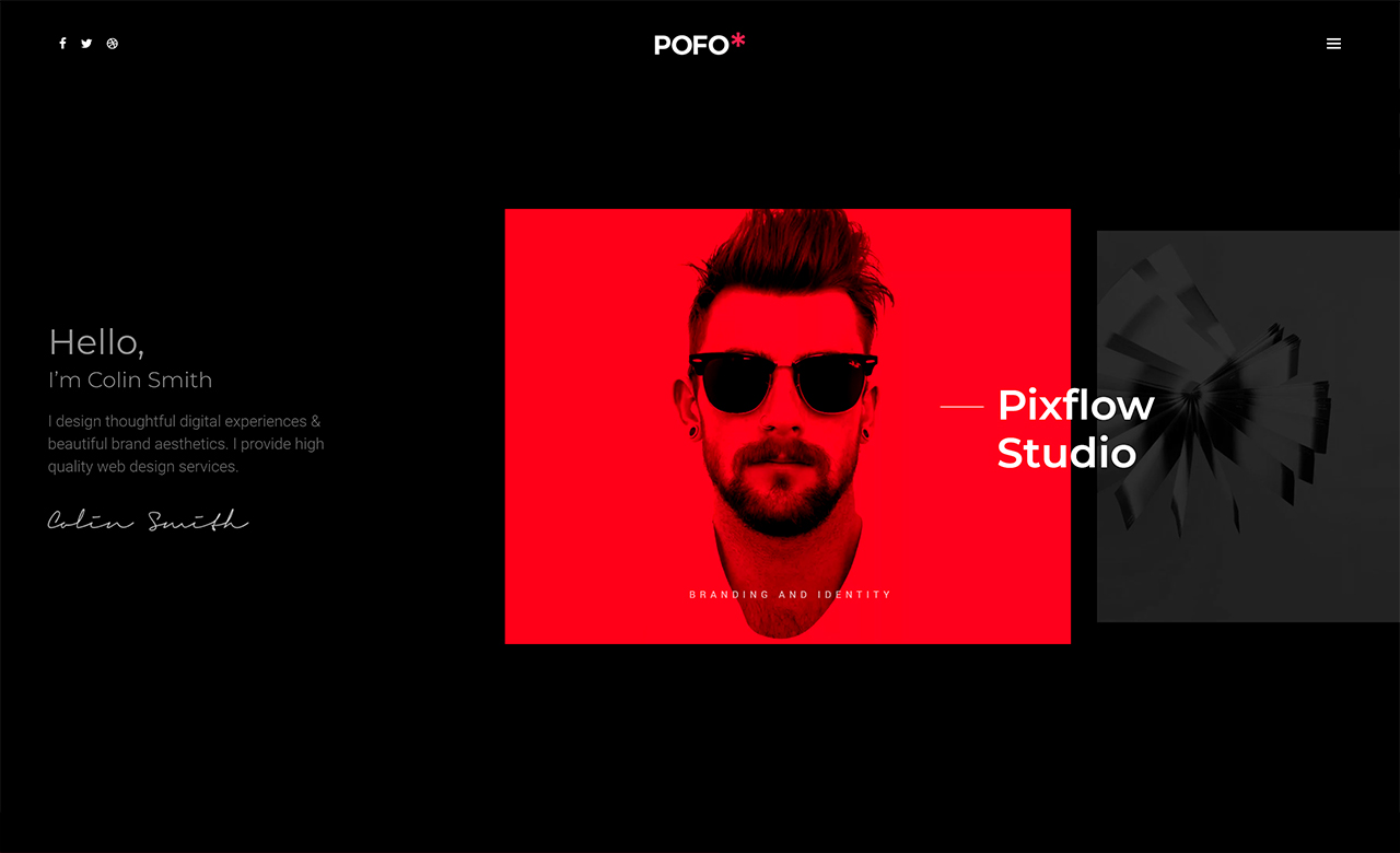 Pofo Creative Portfolio and Blog WordPress Theme