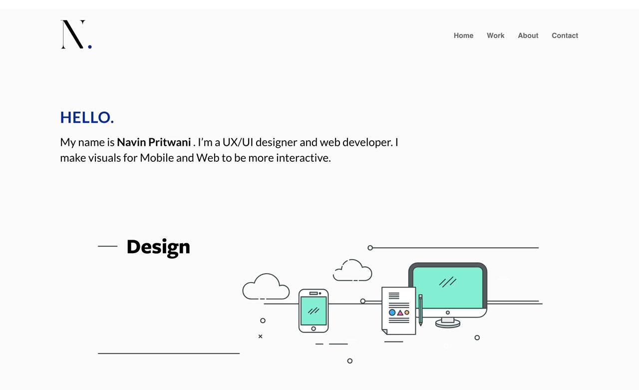 Navin Pritwani Portfolio website