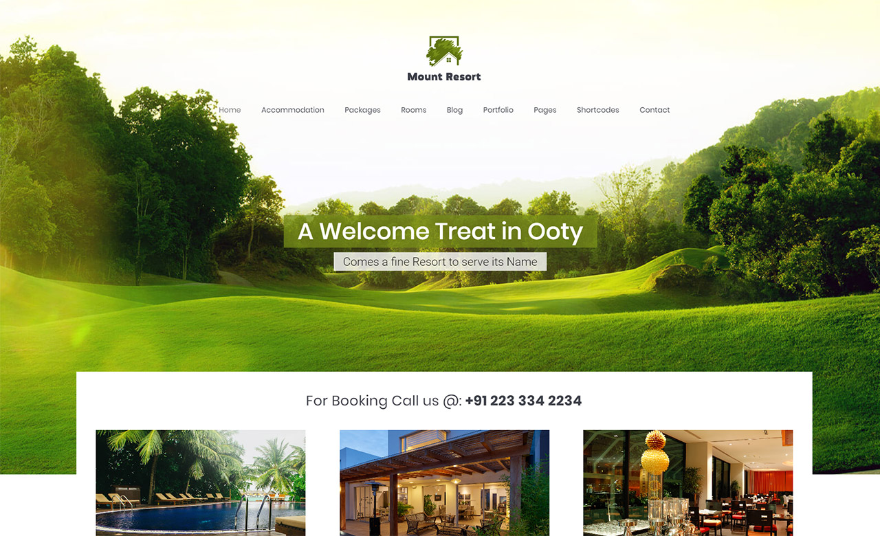 Misty Mount Resort WordPress Theme