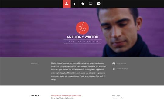 Anthony Wiktor Resume Portfolio Site