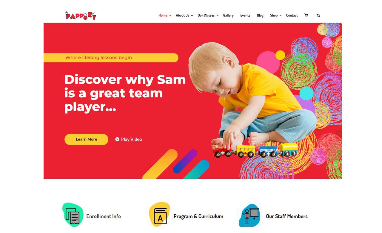 PapporyChildren Kindergarten WordPress Theme by zozothemes